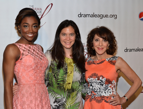 <i>Pippin</i> Distinguished Performance Award nominees Patina Miller (left) and Andrea Martin (right), with director Diane Paulus.<br />(© David Gordon)