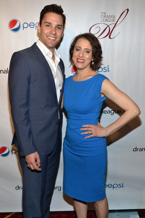 Ryan Silverman and Judy Kuhn, Distinguished Performance Award nominees for <i>Passion</i>.<br />(© David Gordon)