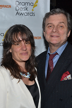 Pam MacKinnon is nominated for Outstanding Director of a Play for the Broadway revival of <I>Who's Afraid of Virginia Woolf?</I> She is accompanied by boyfriend John Procaccino.<br />(© David Gordon)