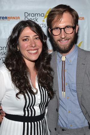 Actor Blake Delong plays Prince Andrey in <I>Natasha, Pierre & the Great Comet of 1812</I>. Here he is posing with his director, Rachel Chavkin.<br />(© David Gordon)