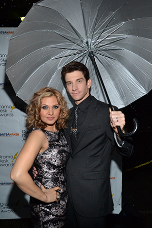Sexy Broadway husband and wife Orfeh and Andy Karl give serious model face. Karl is nominated for Outstanding Featured Actor in a Musical for <I>The Mystery of Edwin Drood</I>.<br />(© David Gordon)
