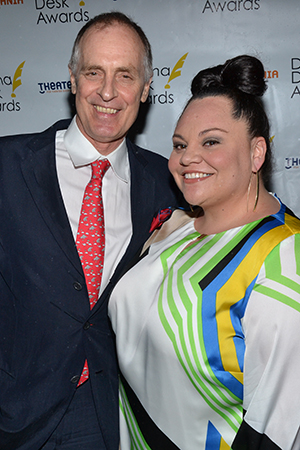 <I>Hands on a Hardbody</I> castmates Keith Carradine and Keala Settle are both nominated for Drama Desk Awards tonight.<br />(© David Gordon)