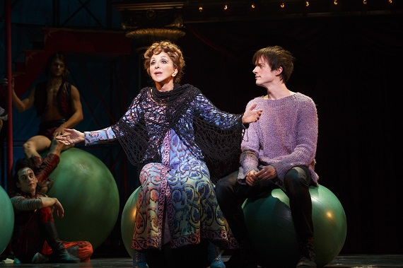 Drama Desk Award winner Andrea Martin with Matthew James Thomas in <i>Pippin</i>