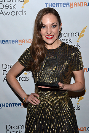 Laura Osnes, Outstanding Actress in a Musical for <i>Rodgers + Hammerstein's Cinderella</i>.<br />(© David Gordon)