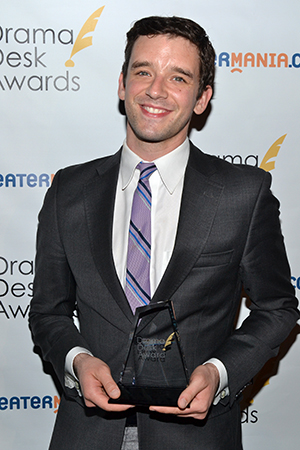 Michael Urie, Outstanding Solo Performance winner for <i>Buyer & Cellar</i>.<br />(© David Gordon)
