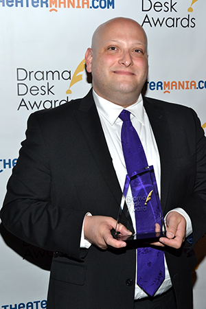 Isaac Robert Hurwitz, Executive Director and Producer of the New York Musical Theatre Festival, a special award winner.<br />(© David Gordon)