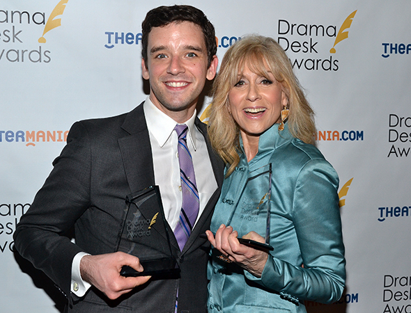 Winners (and former <i>Ugly Betty</i> costars) Michael Urie and Judith Light.<br />(© David Gordon)