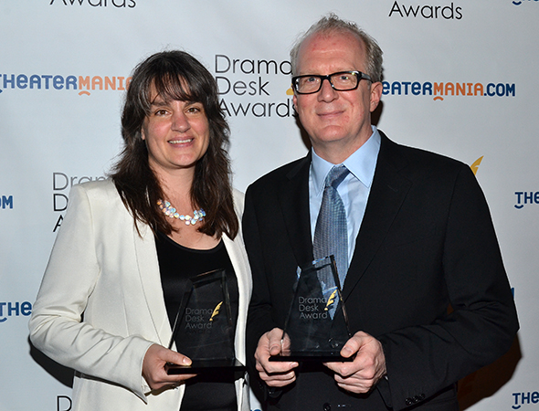 <i>Edward Albee's Who's Afraid of Virginia Woolf?</i> winners Pam MacKinnon and Tracy Letts.<br />(© David Gordon)