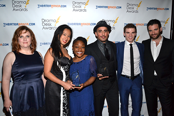 The cast of <i>Working</i>, winners of a special ensemble award.<br />(© David Gordon)