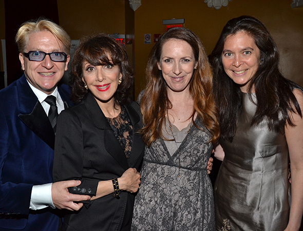 The proud winners of Broadway's <i>Pippin</i>: Chet Walker, Andrea Martin, Gypsy Snider, and Diane Paulus.<br />(© David Gordon)