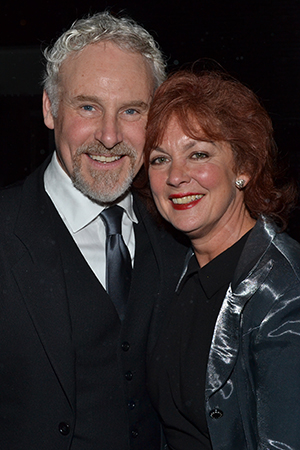 <i>Giant</i> married couple John Dossett and Michele Pawk are among the stars of that show on hand for the evening.<br />(© David Gordon)