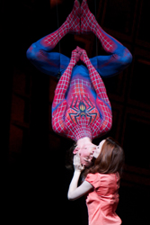 Reeve Carney and Jennifer Damiano in <i>Spider-Man: Turn Off the Dark</i>