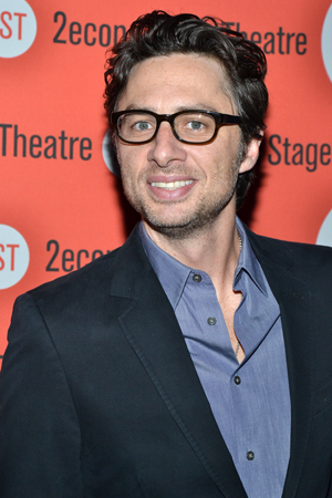 Second Stage alum Zach Braff appeared in Paul Weitz's play <i>Trust</i>.<br />(© David Gordon)