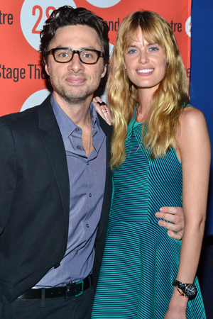 Zach Braff and Taylor Bagley share a photo before the start of the gala.<br />(© David Gordon)