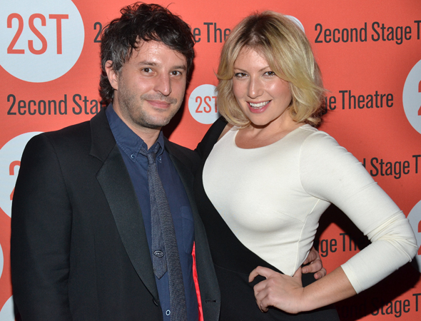 Ari Graynor (right), who appeared in Paul Weitz's <i>Trust</i> at Second Stage, spends the evening with her pal, director Trip Cullman.<br />(© David Gordon)