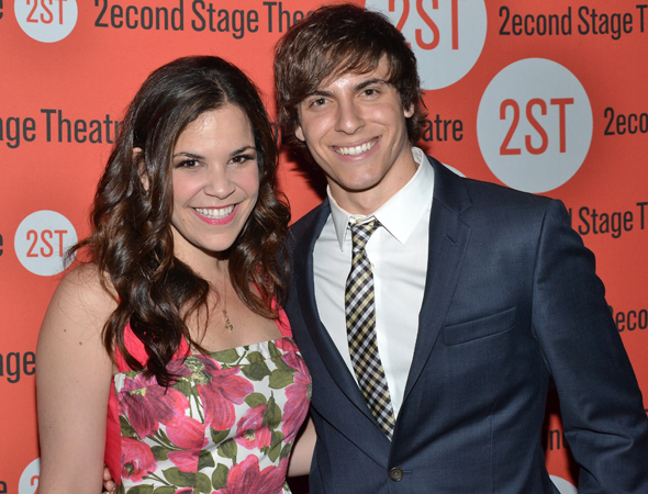 Second Stage alums Lindsay Mendez and Derek Klena, both of <i>Dogfight</i>, will soon star opposite each other in Broadway's <i>Wicked</i>.<br />(© David Gordon)