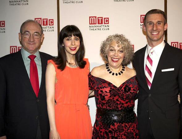 It's 4/5 of the cast of <i>Old Jews Telling Jokes</i>! Todd Susman, Audrey Lynn Weston, Marilyn Sokol, and Bill Army.<br />(© Christopher Gower Johnson)