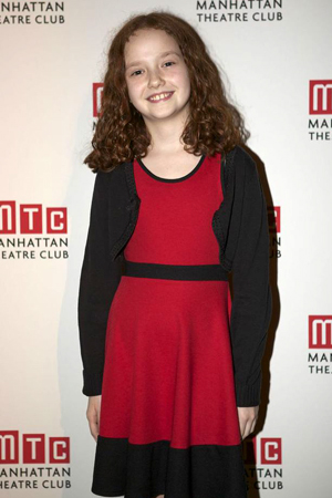 <i>Annie</i> cast member Taylor Richardson smiles for the camera before performing.<br />(© Christopher Gower Johnson)