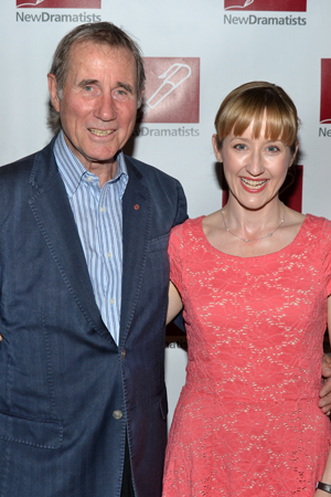 Stage legend Jim Dale and <i>Matilda</i>'s Lauren Ward are thrilled to share a photo.<br />(© David Gordon)