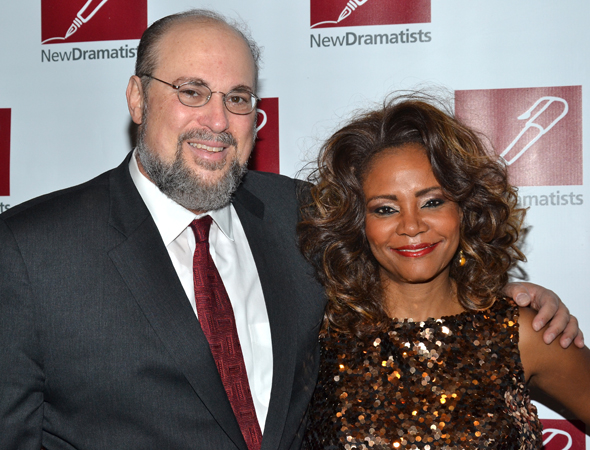Honoree Seth Gelblum smiles alongside Tonya Pinkins, one of the performers at the luncheon.<br />(© David Gordon)