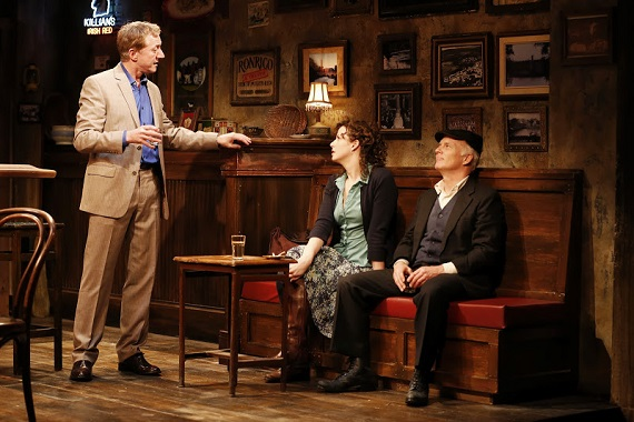 Sean Gormley, Tessa Klein, and Dan Butler in <i>The Weir</i>