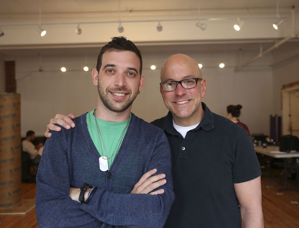 Creators of the Public Theater's new hip-hop musical <i>Venice</i>, Matt Sax and Eric Rosen.
