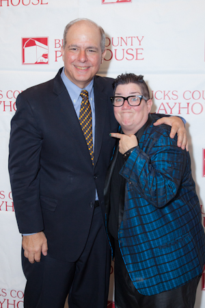 Bucks County Playhouse Producing Director Jed Bernstein and <i>Mame</i> cast member Lea DeLaria having fun with the press. <br />(© Seth Walters)
