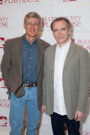 David Garrison, cast member of <i>The Tale of the Allergist's Wife</i>, and playwright Charles Busch.<br />(© Seth Walters)