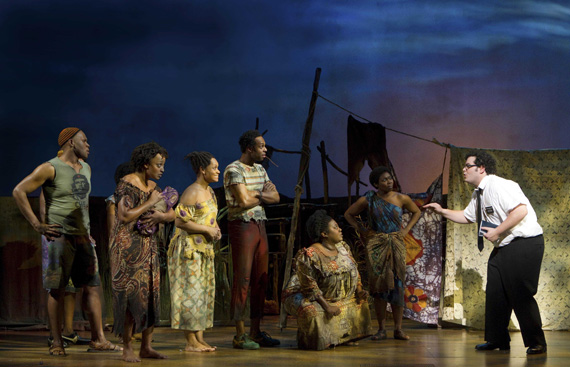 """Our audience paid an average of $ 207.13 to see our show last week!""<Br> Josh Gad and the original Broadway cast of <I>The Book of Mormon</I>."