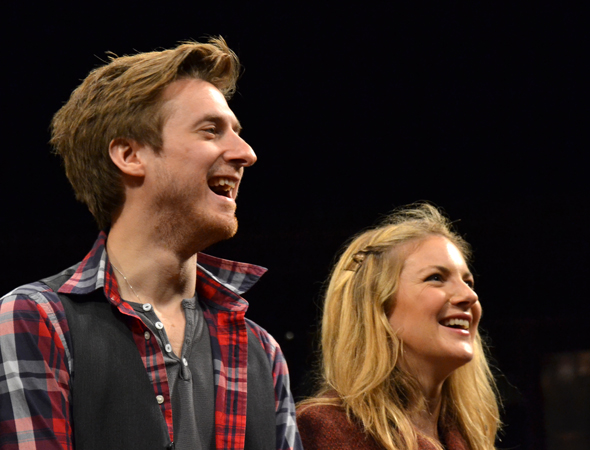 <i>Dr. Who</i>'s Arthur Darvill and West End veteran Joanna Christie are the show's new leads, Guy and Girl.<br />(© David Gordon)
