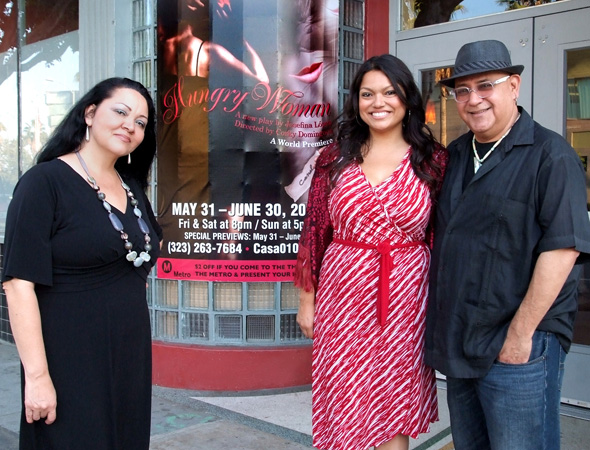 Pictured from left to right: Playwright Josefina López, actress Rachel González, and director Corky Dominguez.<br />(© Ed Krieger)