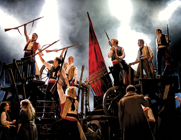 A scene from the new revival of <i>Les Misérables</i>.