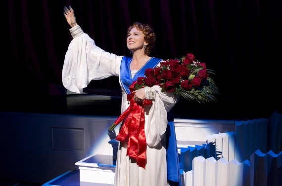 Tony nominee Carolee Carmello in <i>Scandalous: The Life and Trials of Aimee Semple McPherson</i>
