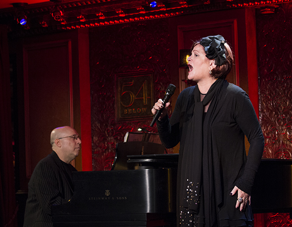 Alex Rybeck and Faith Prince perform at 54 Below in August 2012.