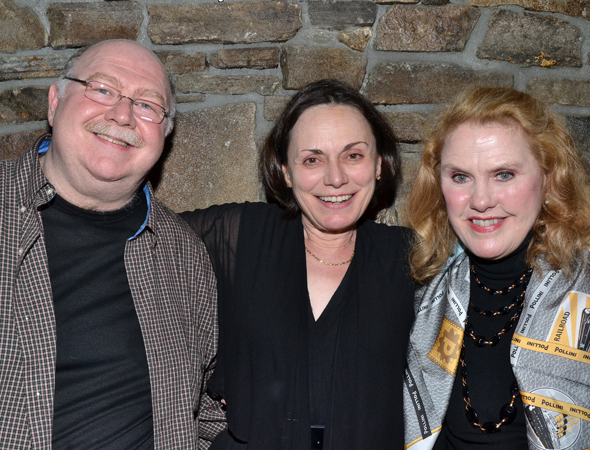 J.B. Adams, who played Morris Farnsworth in both the film and stage musical version of <i>Far From Heaven</i>, gets close with his stage costar Alma Cuervo and veteran actress Celia Weston, who in the film played Cuervo's role, busybody Mona Lauder.<br />(© David Gordon)