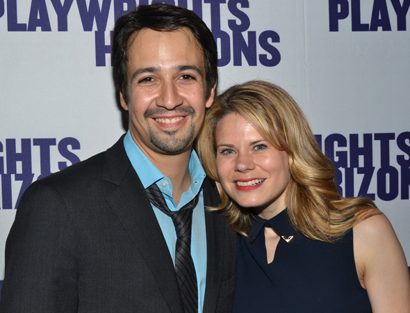 Guests included former <i>Merrily We Roll Along</i> costars Lin-Manuel Miranda and Celia Keenan-Bolger, who were on hand to support their pal, Steven Pasquale.<br />(© David Gordon)
