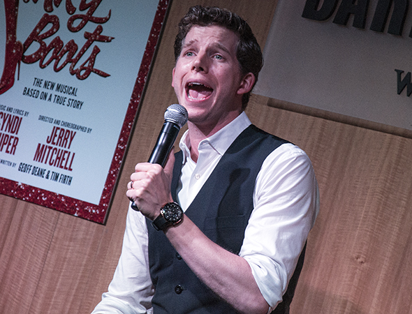 "Stark Sands sings ""Step One,"" a song specifically written for him.<br />(© David Gordon)"