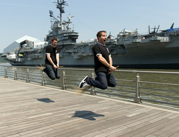 Clarkson and Turner take their Pottering to the USS Intrepid.