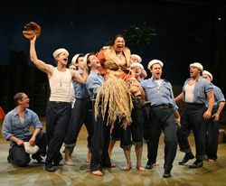 This is what Memorial Day weekend in NYC usually looks like. <br> Loretta Ables Sayre and the original cast of <I>South Pacific</I> at Lincoln Center Theater.
