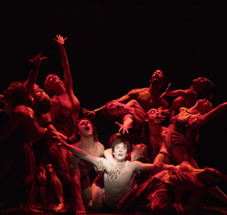 This is what it looked like this year.<br> Matthew James Thomas in <I>Pippin</I>.