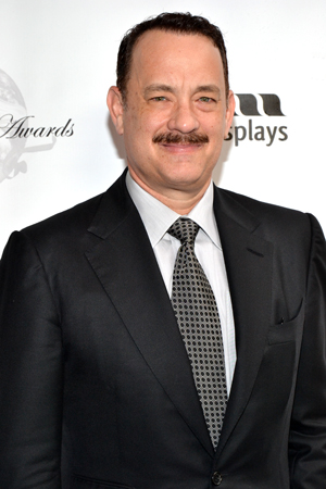 Tom Hanks receives a 2013 Theatre World Award for his Broadway debut performance as tabloid journalist Mike McAlary in <i>Lucky Guy</i>.<br />(© David Gordon)