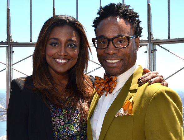 Patina Miller and Billy Porter are nominees for their performances in <i>Pippin</i> and <i>Kinky Boots</i>, respectively.<br />(© David Gordon)