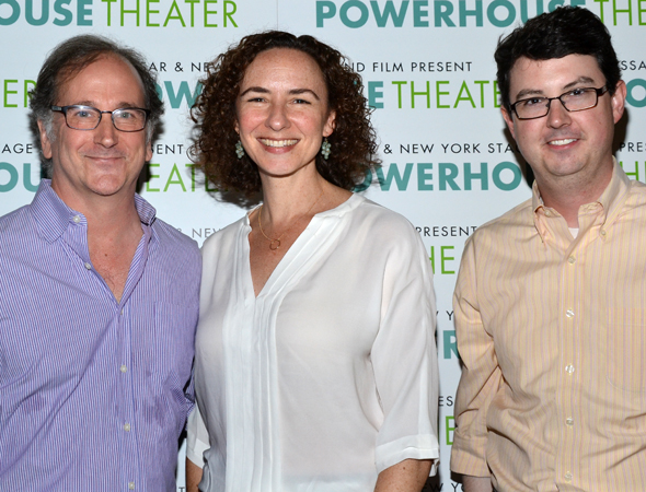 Festival Producing Director Mark Linn-Baker joins Artistic Director Johanna Pfaelzer and Executive Director Thomas Pearson for a photo.<br />(© David Gordon)