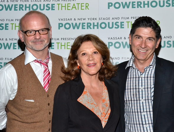 Director Michael Wilson, actress Linda Lavin, and playwright James Lecesne represent their collaboration, <i>Mother of Invention</i>.<br />(© David Gordon)