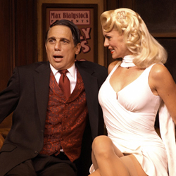 Tony Danza and Leigh Zimmerman in <i>The Producers</i>