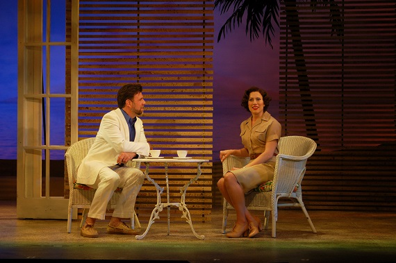 Rob Gallagher and Kim Carson in <i>South Pacific</i> at the John W. Engeman Theater at Northport
