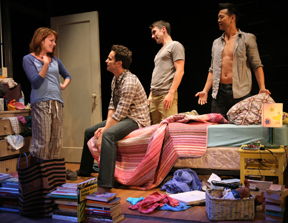 Aubrey Dollar, Matt Dellapina, Keith Nobbs, and Louis Ozawa Changchien in <i>The Tutors</i>
