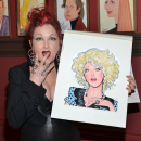Cyndi Lauper Can Hardly Believe She Gets a Sardi's Caricature
