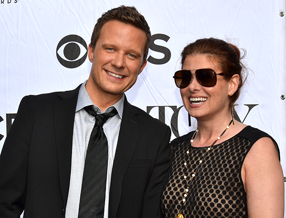 Will Chase and Debra Messing are excited for the Tonys.<br />(© David Gordon)