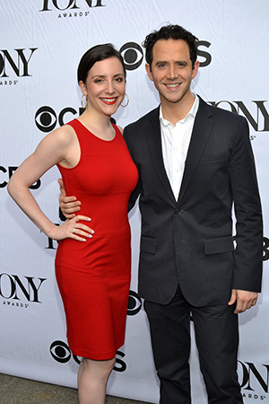 <i>Cinderella</i>'s Santino Fontana attends with his girlfriend, Jessica Hershberg.<br />(© David Gordon)